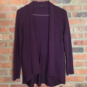 Eileen Fisher 100% Wool Ribbed Cardigan